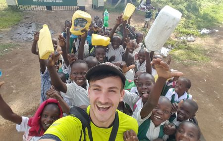 """Working here in Kenya is my biggest challenge so far with lots of ups and downs, but whenever things don't go so well, I always keep the bigger goal in mind. Kenya is an incredible character building experience for me."" Read the following interview to learn more about Léons experiences in Kenya."
